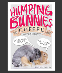 Fun coffee gifts humping bunnies coffee