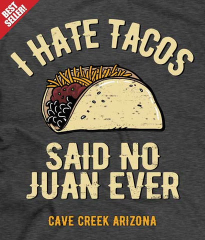 Arizona taco t-shirt design closeup