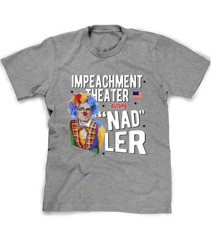 Jerry Nadler sucks tee shirt in clown suit