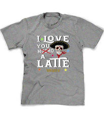 Love You a Latte coffee tee shirt