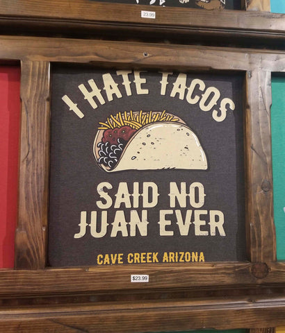 Arizona taco tee shirt closeup