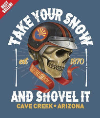 Arizona winter tee shirt design closeup