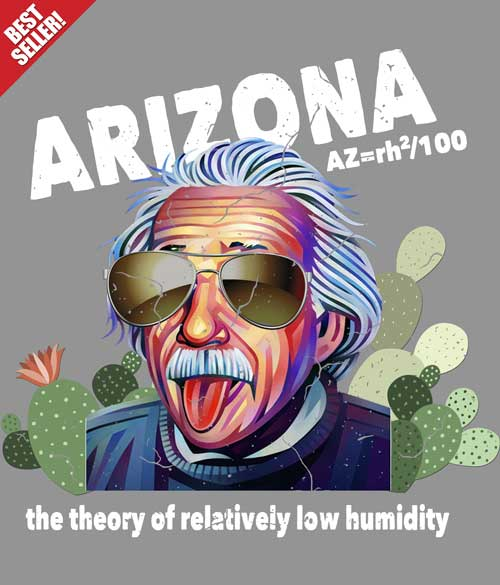 Arizona Humidity tee shirt design closeup