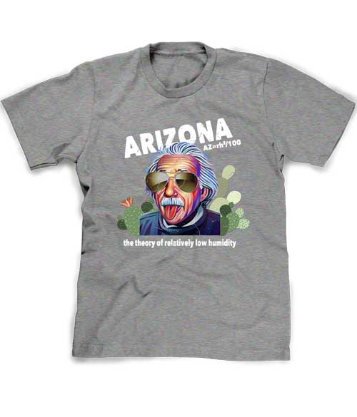 Arizona Humidity tee shirt in grey