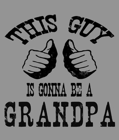 This guy is gonna be a Grandpa tee shirt design closeup