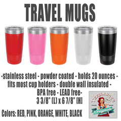 Travel Mug color choices