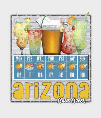 Arizona Cocktails t-shirt design closeup