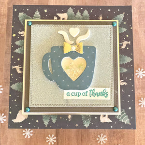 MINI Tutorial: A Cup of Thanks- Thank You Card