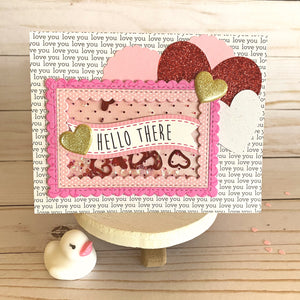 MINI Tutorial: Hello There! DIY Valentine's Day Shaker Card