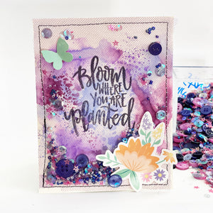 May's Tip: Purple Bloom Shaker Card