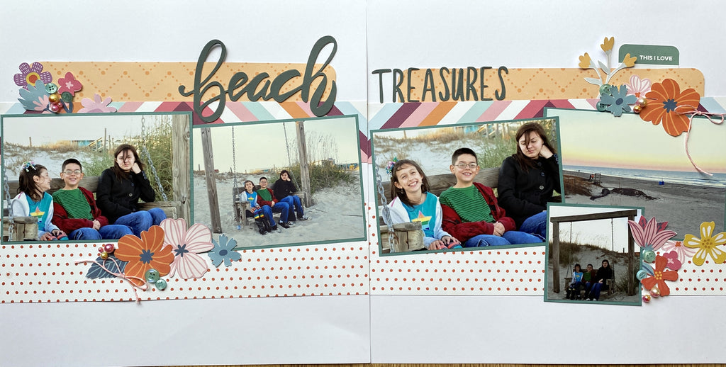 MINI Tutorial: DIY Scrapbook Layout- Beach Treasures