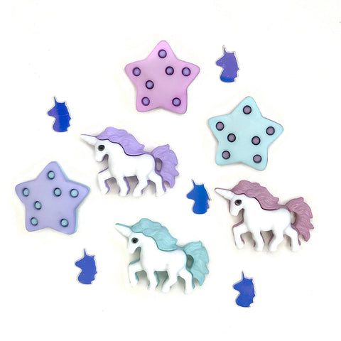 Unicorn Party Theme Buttons
