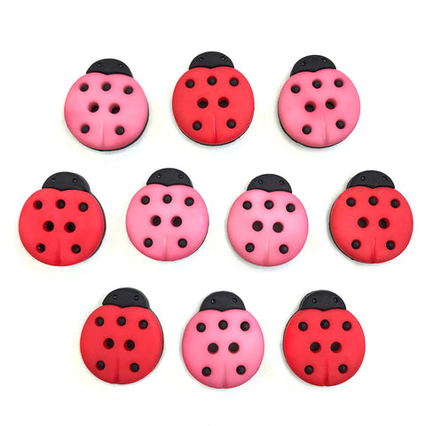 Lucky Ladybugs Theme Buttons