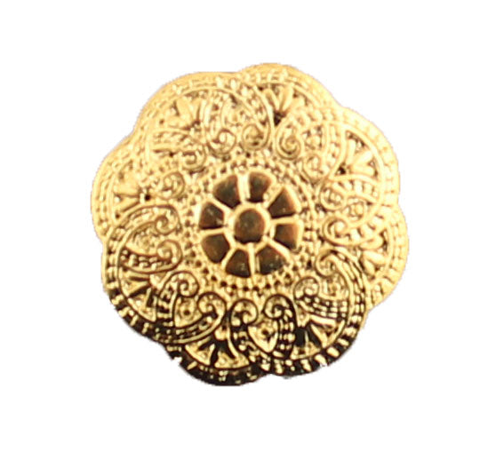 Gold Ornate Round- B672
