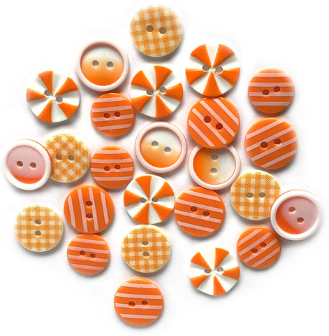 Orange Slices Printed Buttons