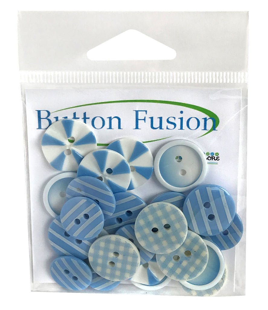 Blues Medley Printed Buttons