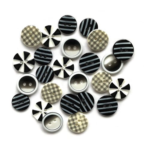 Optical Illusion Printed Buttons
