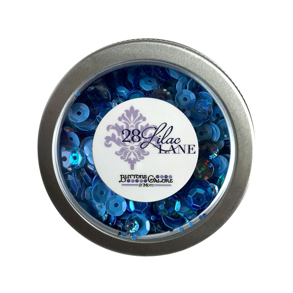 Denim Blues Sequin Tins