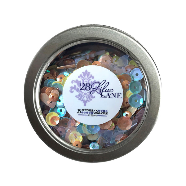 Spring Butterflies Sequin Tin