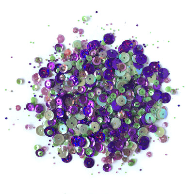 Violet Blossom Sequin Tin