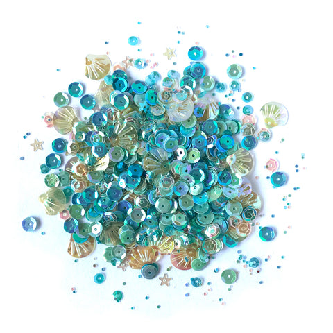 Seaside Holiday Sequin Tin