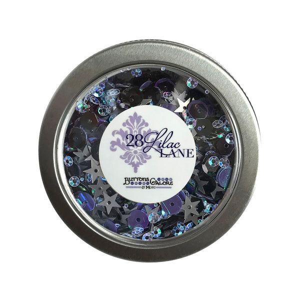 Haunted House Sequin Tin