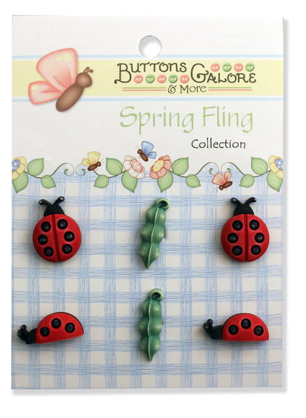 Ladybugs 3D Buttons