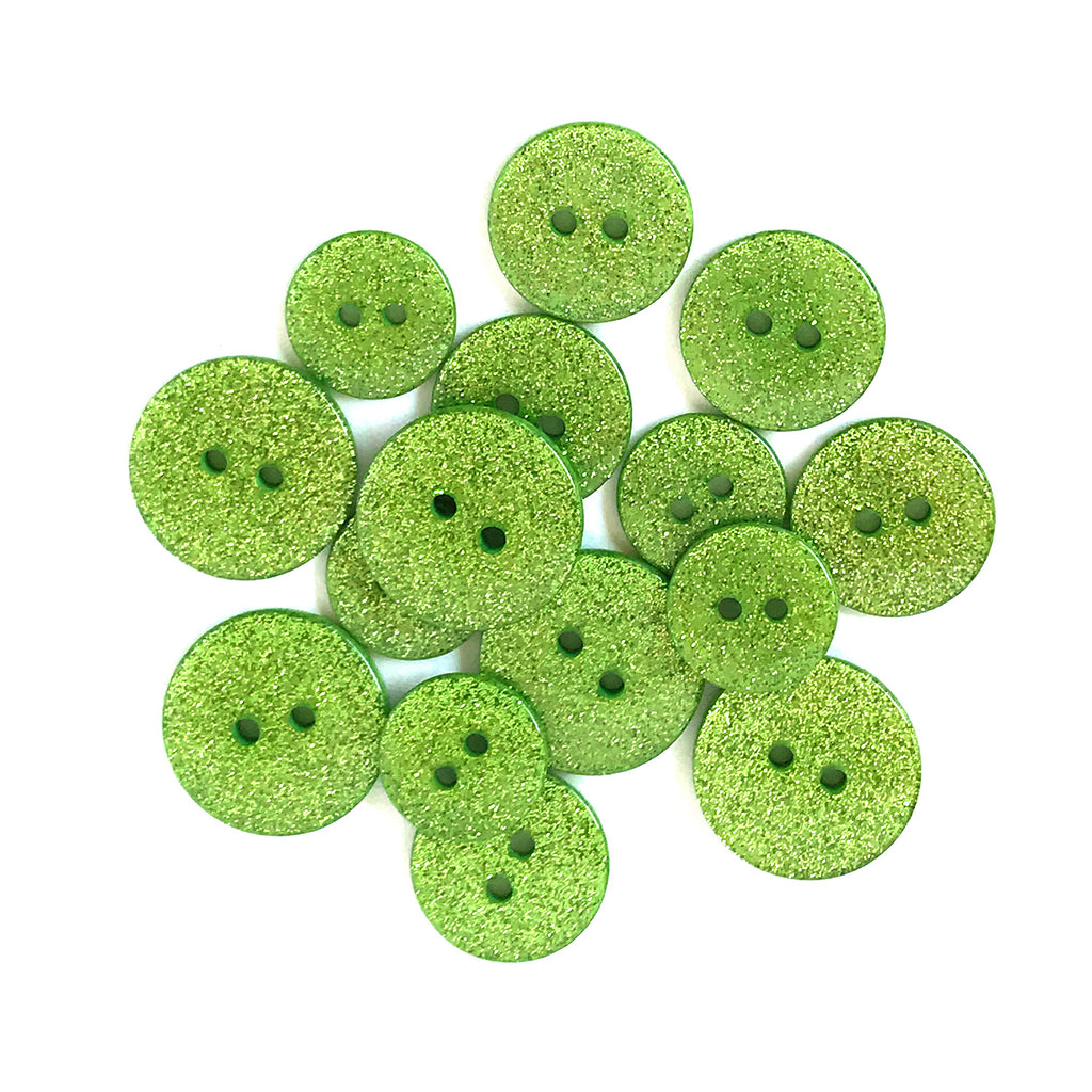 Granny Smith Glitter Buttons - SUS102