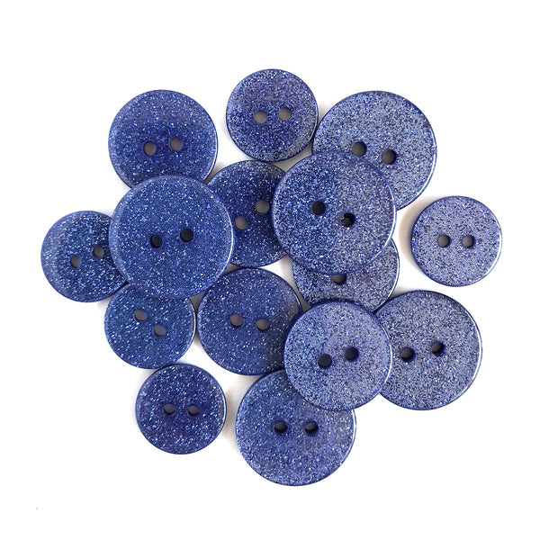 French Lavender Glitter Buttons - SUS106
