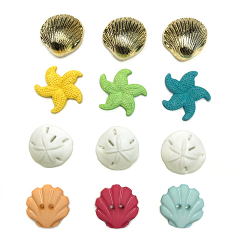 Beach Treasures Theme Buttons