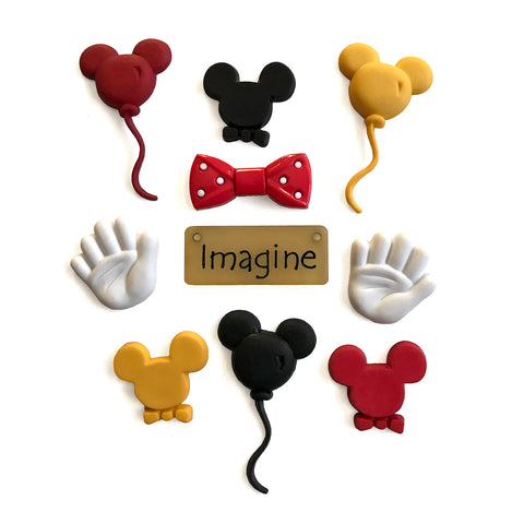 Mouse Ears Theme Buttons