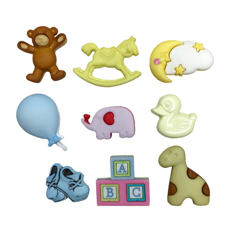 Newborn Friends Theme Buttons