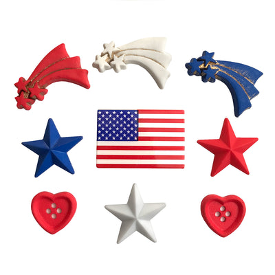 Stars & Stripes Theme Buttons