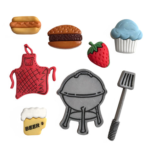 Backyard BBQ Theme Buttons