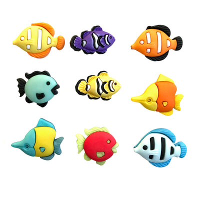 Tropical Fish Theme Buttons