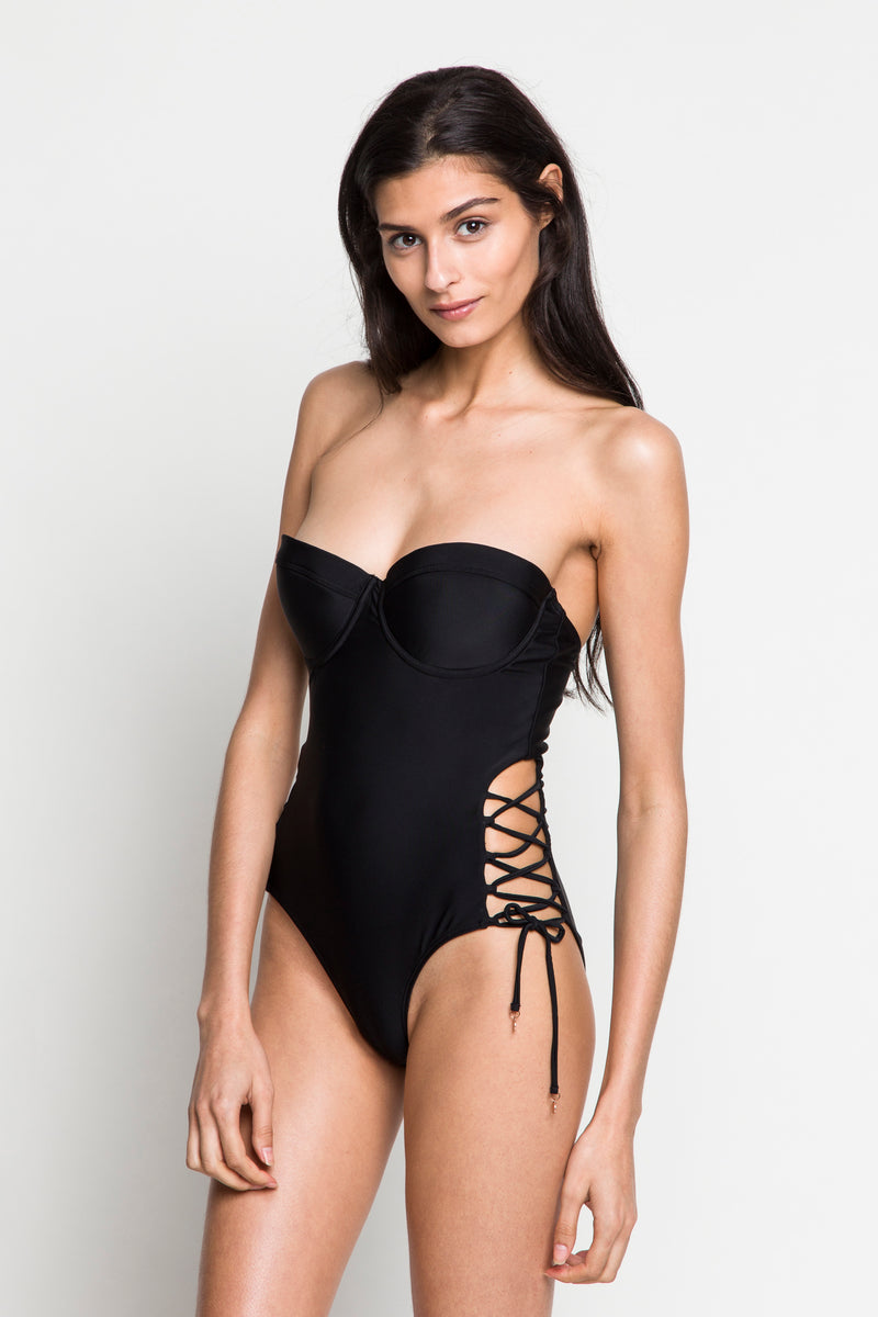 6 shore road |Beach Rock One Piece | Resort 2018 Collection |Black Swimsuit| XS,S,M,L