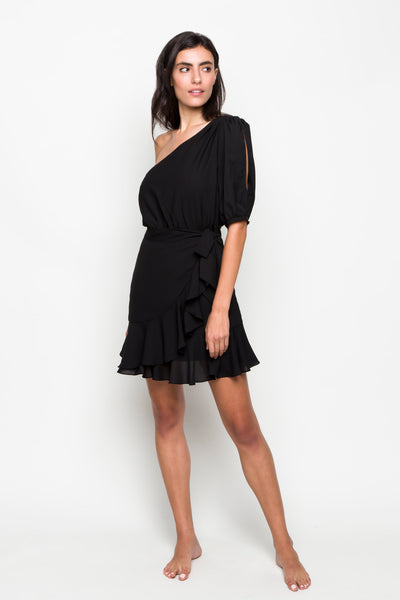 6 shore road | Palms One Shoulder Dress | Spring 2018 Collection | Black Dress | XS,S,M,L