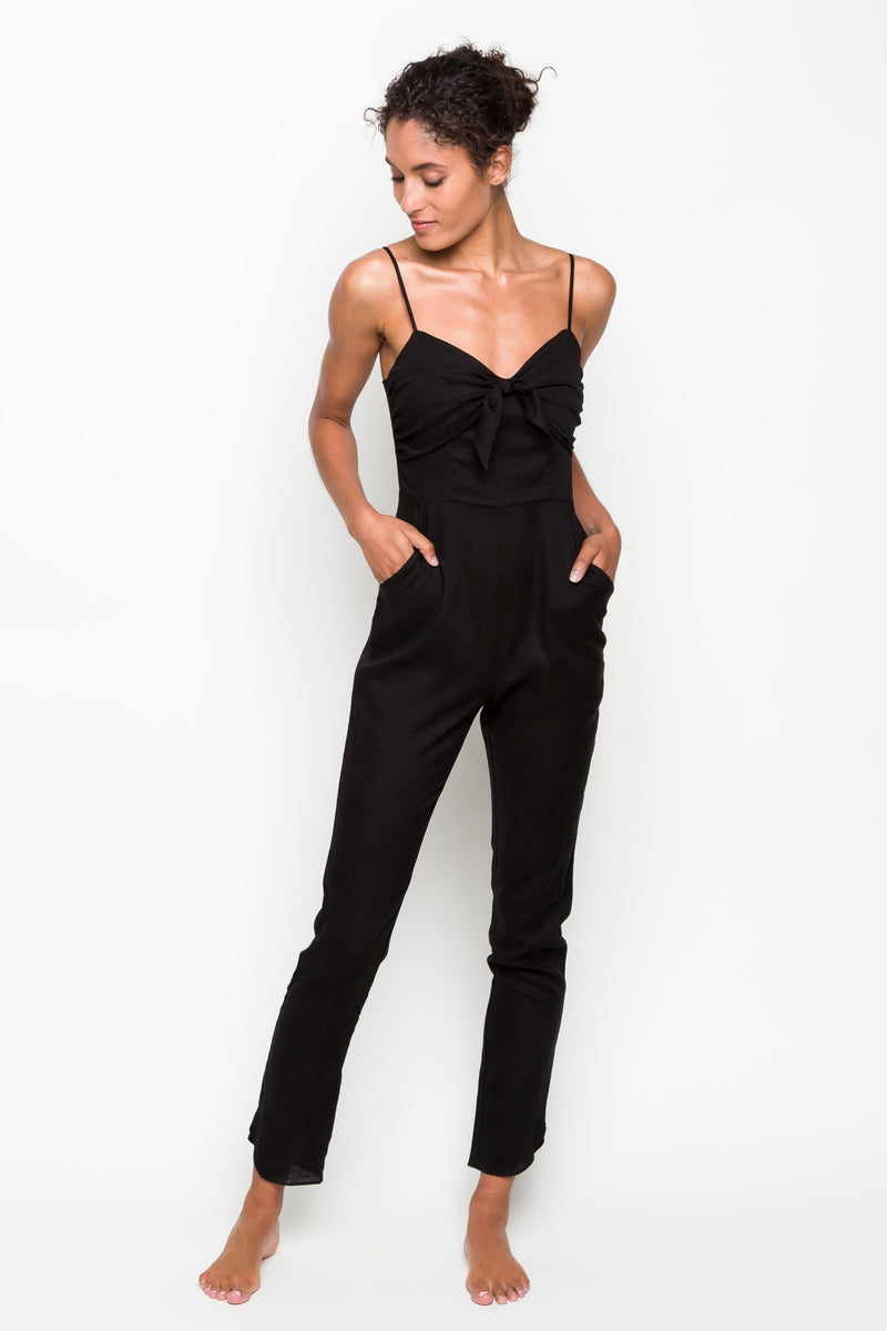 6 shore road | Hamilton Linen Jumpsuit | Spring 2018 Collection | Black Jumpsuit | XS,S,M,L