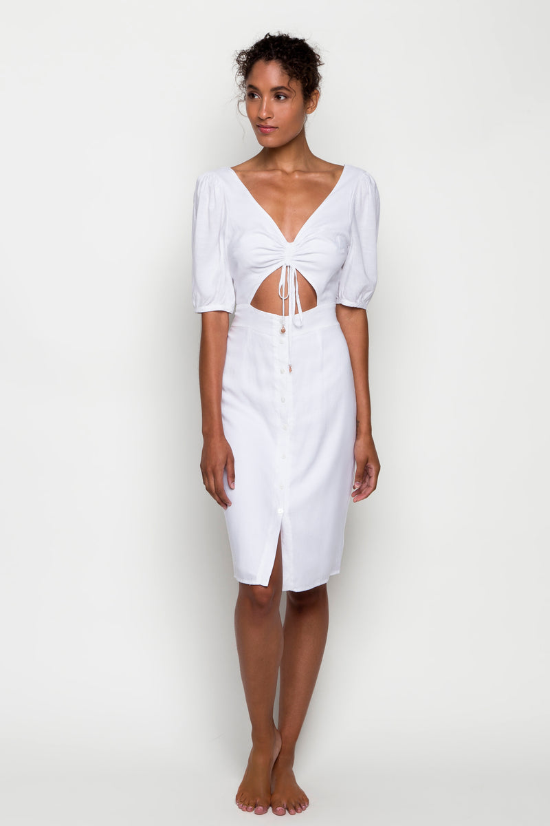 6 shore road | Palmetto Linen Dress | Spring 2018 Collection | White Dress | XS,S,M,L