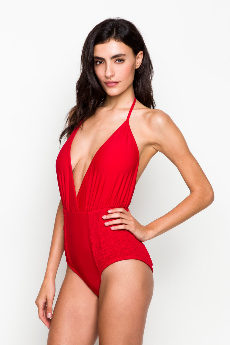 6 shore road | Coast One Piece | Spring 2018 Collection | Red Swimsuit | XS,S,M,L