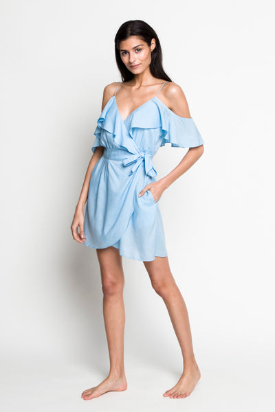 6 Shore Road |Sunday's Linen Dress | Blue | Resort 2018 Collection | XS,S,M,L