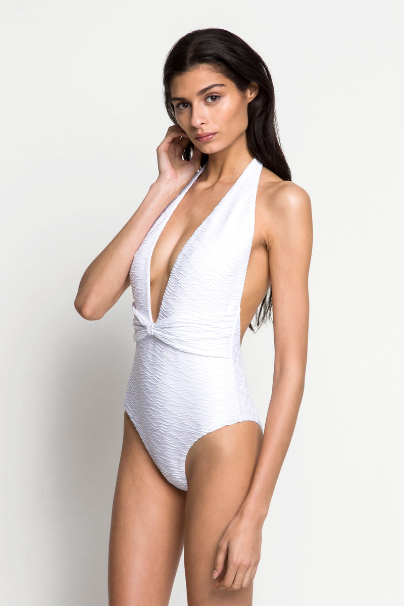 6 shore road | The Sea One Piece | Resort 2018 Collection | White Swimsuit | XS,S,M,L