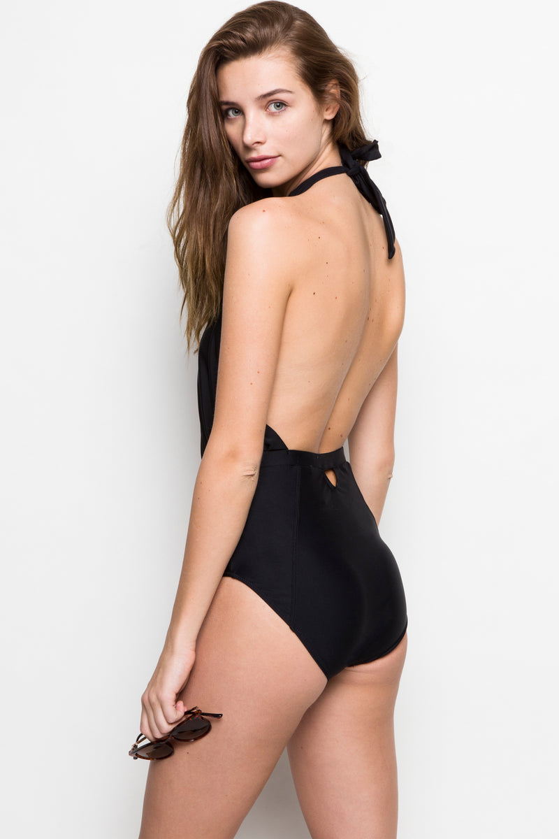 6 Shore Road |Cabana One Piece| Black | Classics Collection | XS,S,M,L