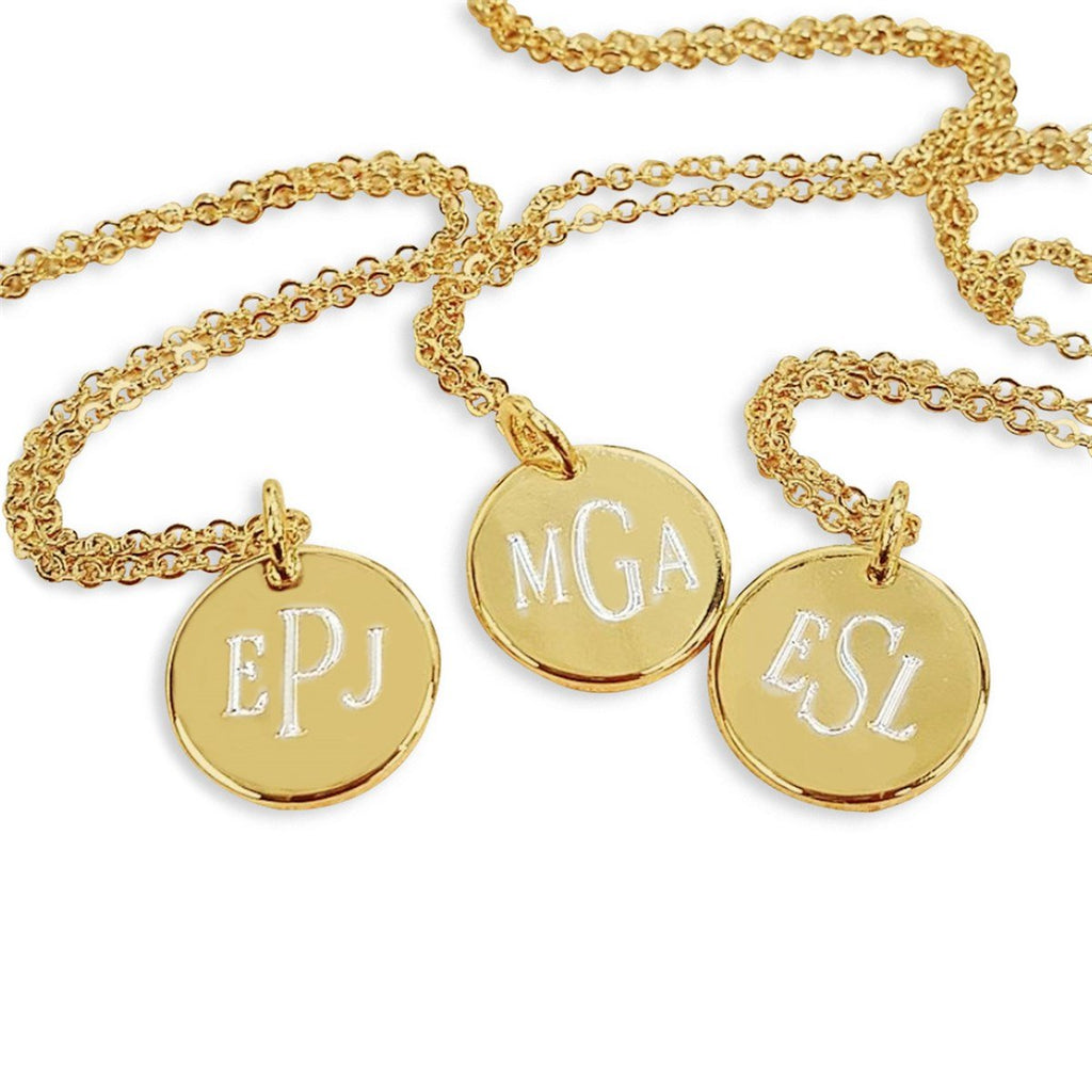 GMND01 - Engraved Necklace Mini Gold Disc
