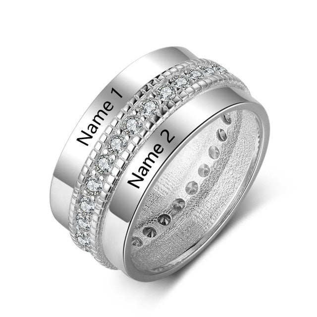 Double Name Personalized Rings