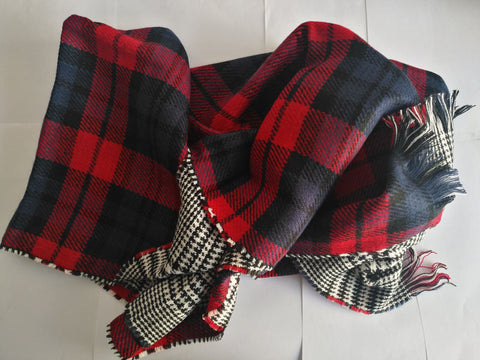 Buffalo Plaid Scarf Cape