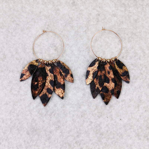Leaf Fringe Earrings