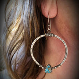 Silver Hollow Metal Earrings