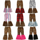 Girls Leopard Flare Pants