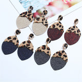 Leopard Top Dangle Earrings